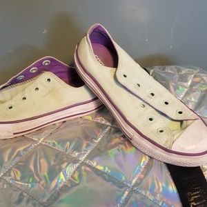 Girls mint and purple Converse